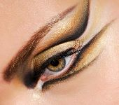close up Woman\'s eye