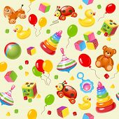 Toy seamless background