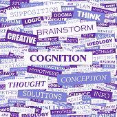 COGNITION. Word cloud concept illustration.