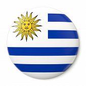 Uruguay Pin-back