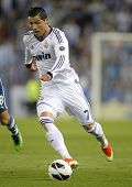 BARCELONA - MAY, 11: Cristiano Ronaldo of Real Madrid during the Spanish League match between Espany
