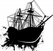 Grunge-pirate-ship
