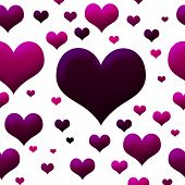 Pink And Purple Hearts Wallpaper