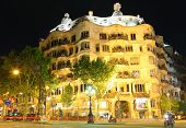 BARCELONA - MAY 7 : Casa Mila or La Pedrera on May 7, 2013 in Barcelona, Spain. This famous building