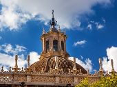 Dome Cathedral Of Saint Mary Of The See Spire Weather Vane Seville Spain