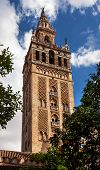 Giralda Bell Tower Cathedral Of Saint Mary Of The See Spire Weather Vane Seville Spain