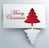 Christmas creative greeting card - paper craft style - origami vector