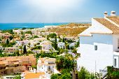 Spanish Landscape. Benalmadena Panoramic View (Spanish tourist city), Costa del Sol. Malaga, Andaluc