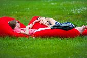 MOSCOW - JUNE 15: People relax in VIP zone on X International Jazz Festival