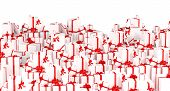 Holiday gifts background - White