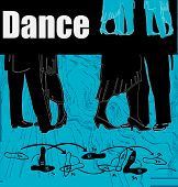 image of ballroom dancing  - Background illustration to advertise ballroom dancing or classes - JPG