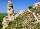 Cretaceous outcrops at nature reserve