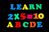 Toy Letters And Numbers - Learn poster