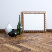 Carved Frame With Vases In Classic Interior