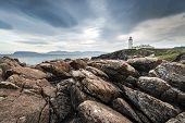 picture of coast guard  - Lighthouse at Fanad Head on the north coast of Donegal in the Republic of Ireland - JPG