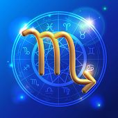 Zodiac Scorpio Golden Sign
