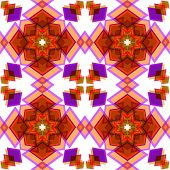 Orange  Festive Christmas Star Seamless Pattern