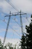 High voltage mast
