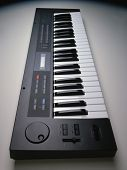 Electronic Keyboard On White Background