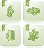 picture of g clef  - Music notation represents music through the use of written symbols. Pictured here left to right top to bottom: 