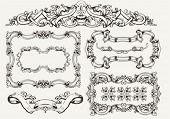 vector set: ornate vintage frames and page decoration