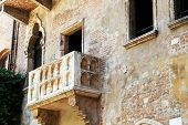 Romeo and Juliet balcony in Verona, Italy