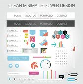 Minimalistic web design collection