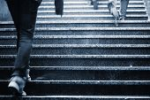 Staircase In Rain