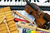 stock photo of flute  - Musical instruments for children - JPG