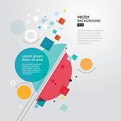 Abstract geometric background. Vector illustration.EPS10