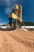 Sawmill Plant Machine With Sawdust Everywhere