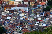 Favela in the middle of Rio de Janerio city
