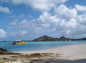 Catamaran Off Jolly Beach, Antigua Barbuda