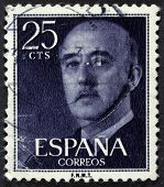 Spanish president on a stamp.