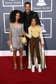 Jada Pinkett Smilth. Will Smith and Willow Smith at the 53rd Annual Grammy Awards, Staples Center, Los Angeles, CA. 02-13-11