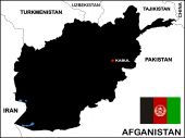 Afghanistan Map Black