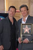 Guy Pearce and Colin Firth at the indiction ceremony for Colin Firth into the Hollywood Walk of Fame