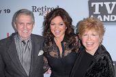 Pat Harrington Jr., Valerie Bertinelli, Bonnie Franklin at the