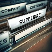Suppliers Management Concept