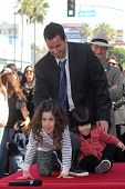 Adam Sandler, Sadie Sandler, Sunny Sandler  at Adam Sandler's Star on the Hollywood Walk of Fame cer