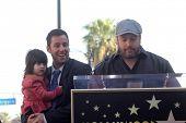 Sunny Sandler, Adam Sandler and Kevin James at Adam Sandler's Star on the Hollywood Walk of Fame ceremony, Hollywood, CA. 02-01-11