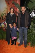 Laurence Fishburne and family at the