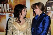 Loretta Lynn and Sissy Spacek at the 44th Annual CMA Awards, Bridgestone Arena, Nashville, TN.  11-10-10