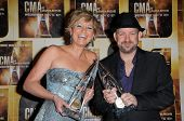 Sugerland  at the 44th Annual CMA Awards, Bridgestone Arena, Nashville, TN.  11-10-10