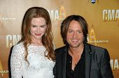 Nicole Kidman and Keith Urban  at the 44th Annual CMA Awards, Bridgestone Arena, Nashville, TN.  11-
