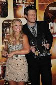 Miranda Lambert and Blake Shelton at the 44th Annual CMA Awards, Bridgestone Arena, Nashville, TN.