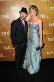 Kristian Bush and Jennifer Nettles at the 44th Annual CMA Awards, Bridgestone Arena, Nashville, TN.