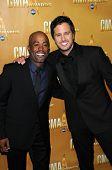Darius Rucker and Luke Bryan  at the 44th Annual CMA Awards, Bridgestone Arena, Nashville, TN.  11-10-10