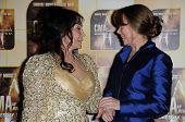 Loretta Lynn and Sissy Spacek  at the 44th Annual CMA Awards, Bridgestone Arena, Nashville, TN.  11-10-10