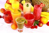 Fruit Juice With Kiwi, Apricot, Cherry, Watermelon, Tangerine And Pear